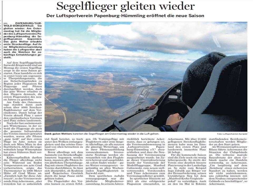 06.04.2013 Pressebericht