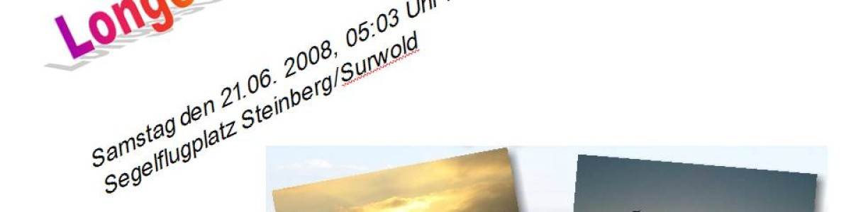 Fliegen von Sonnenaufgang bis Sonnenuntergang