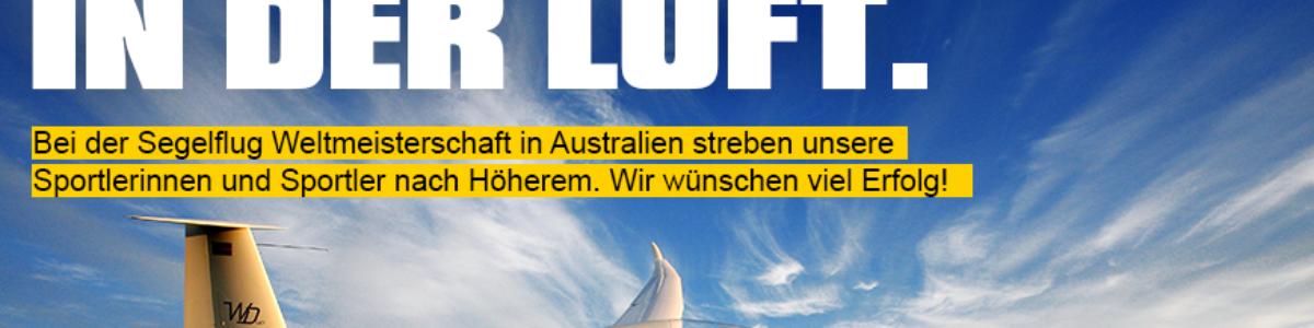 Erfolg liegt in der Luft – Segelflugweltmeisterschaft in Australien
