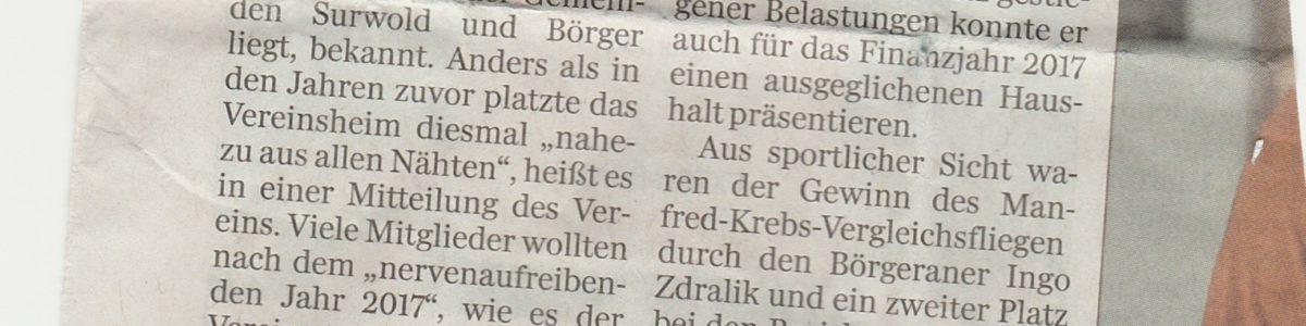 Neues aus der Presse…..