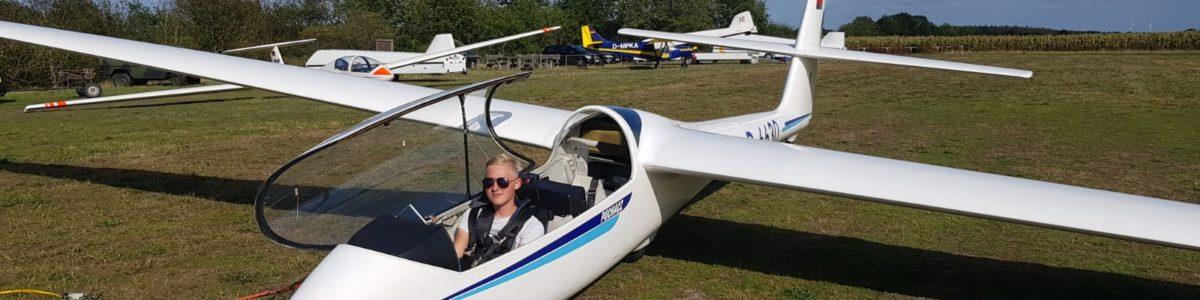 Erster Alleinflug von Nils zum vermeintlichen Saisonabschluss 2019